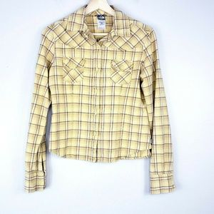 North Face Plaid Long Sleeve Button Up Shirt
